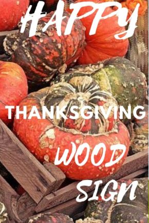 Thanksgiving Wood Signs Decoration With Print Tulip Gold